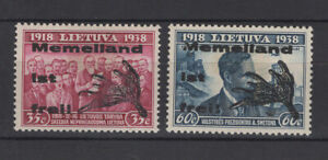 Memel 1939 local overprint on Lithuania MNG