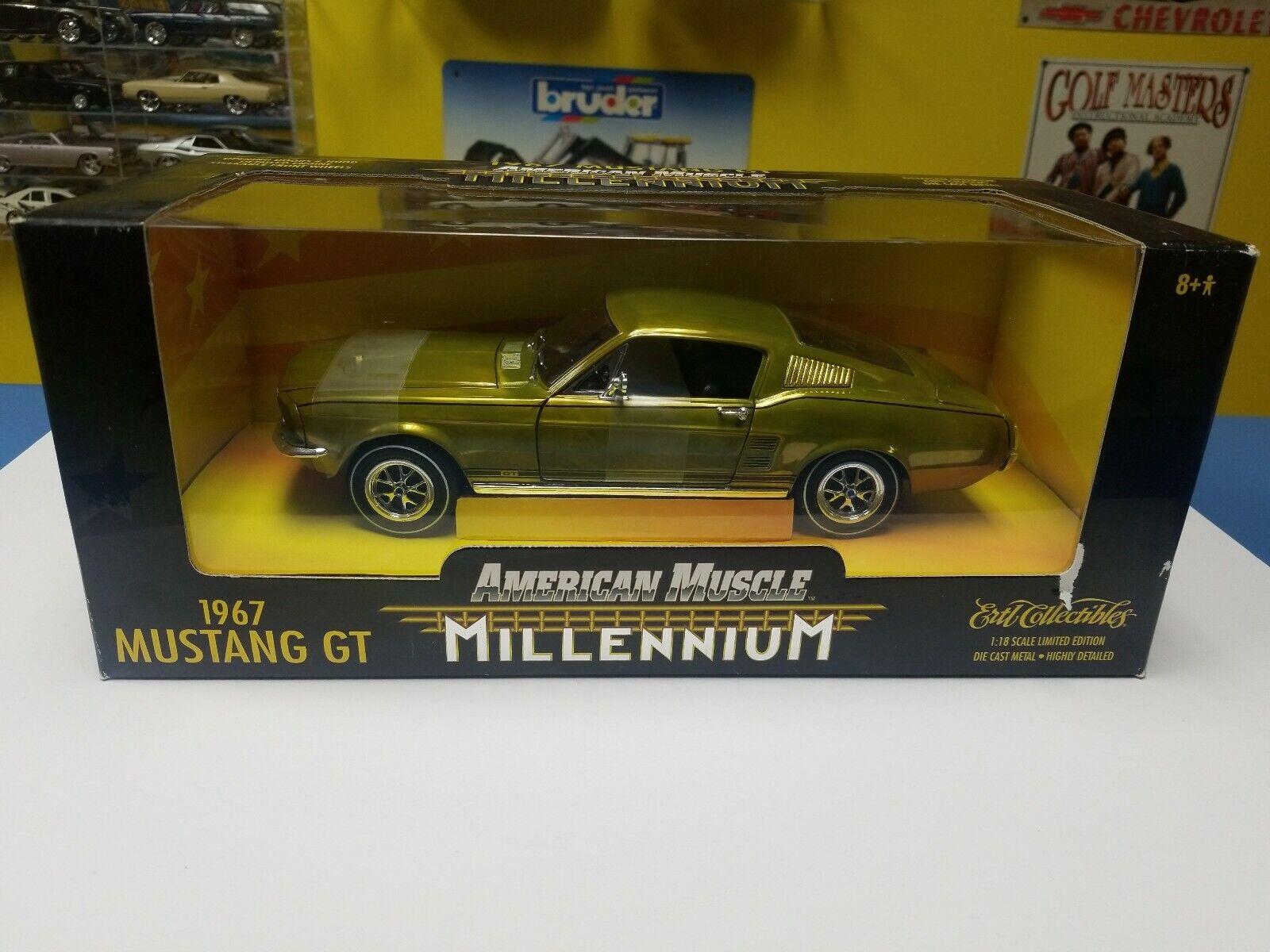 ERTL American Muscle millénaire 1967 Mustang GT Oxydé  NEW