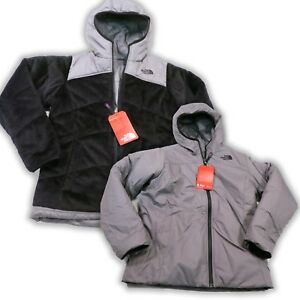 150-North-Face-Girls-Reversible-Perseus-Jacket-Youth-Small-7-8-TNF-Black-NEW