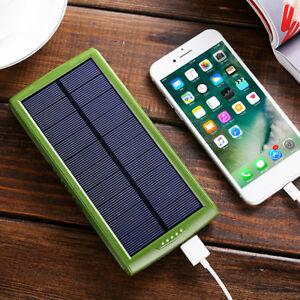 30000mAh Solar Power Bank 2 USB Charger DIY Case For iPad ...