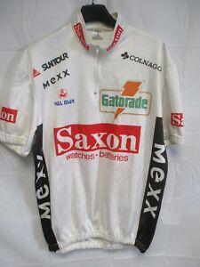 Maillot-cycliste-SAXON-GATORADE-1992-vintage-cycling-shirt-jersey-trikot-EEL-XXL