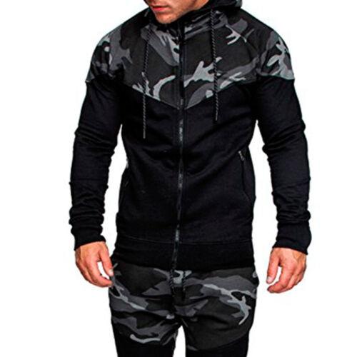 Herren Camouflage Jacke Mantel Sportbekleidung Causal Laufen Jackett Sweatjacke