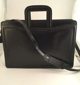 Details About Vintage Black Briefcase W Pull Out Handles Bag Business Work Professional Uni