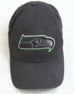 4432cdc939c Seattle Seahawks NFL Black Green Baseball Hat One Size Fits All ...