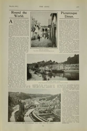 1903 PRINT ARTICLES ROUND THE WORLD BRITISH EMPIRE NEWS DINAN RIVER RANCE