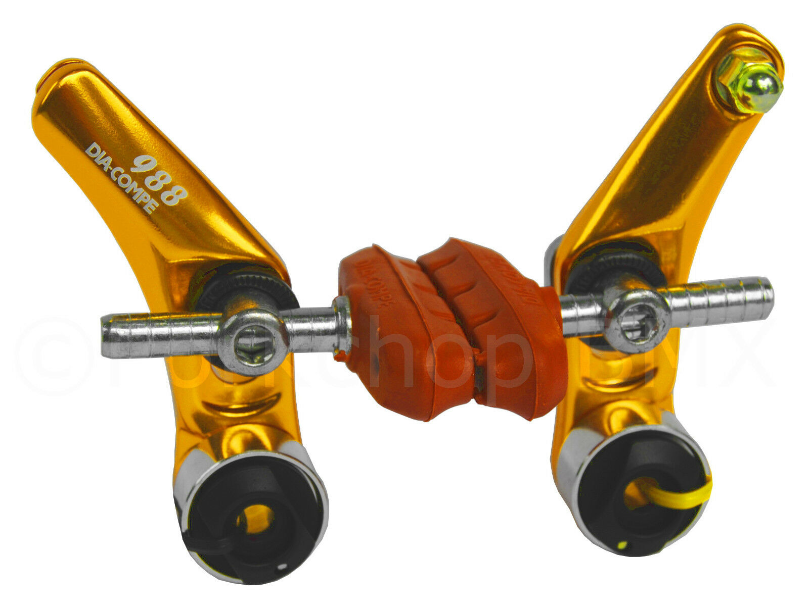 Dia-Compe 988 BMX or MTB Bicycle  Cantilever Brake Caliper - gold ANODIZED  fast delivery and free shipping on all orders