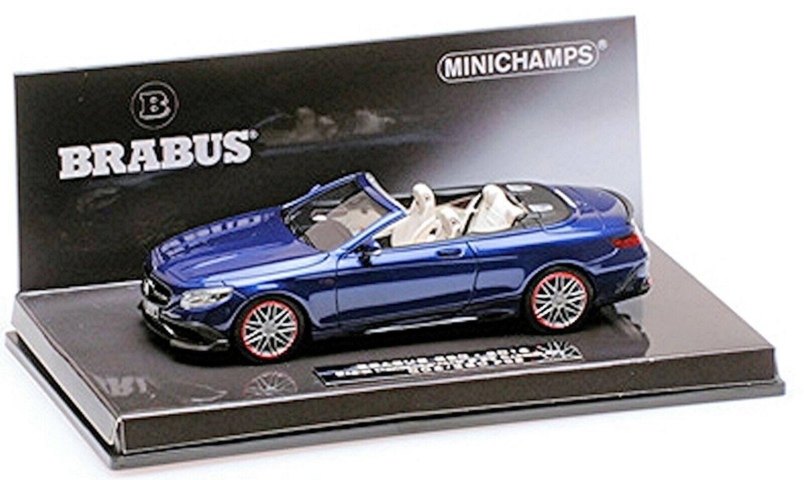 Brabus 850 Mercedes AMG S 63 2016 L. E. .280 Pcs bluee Metal 1 43 Minichamps