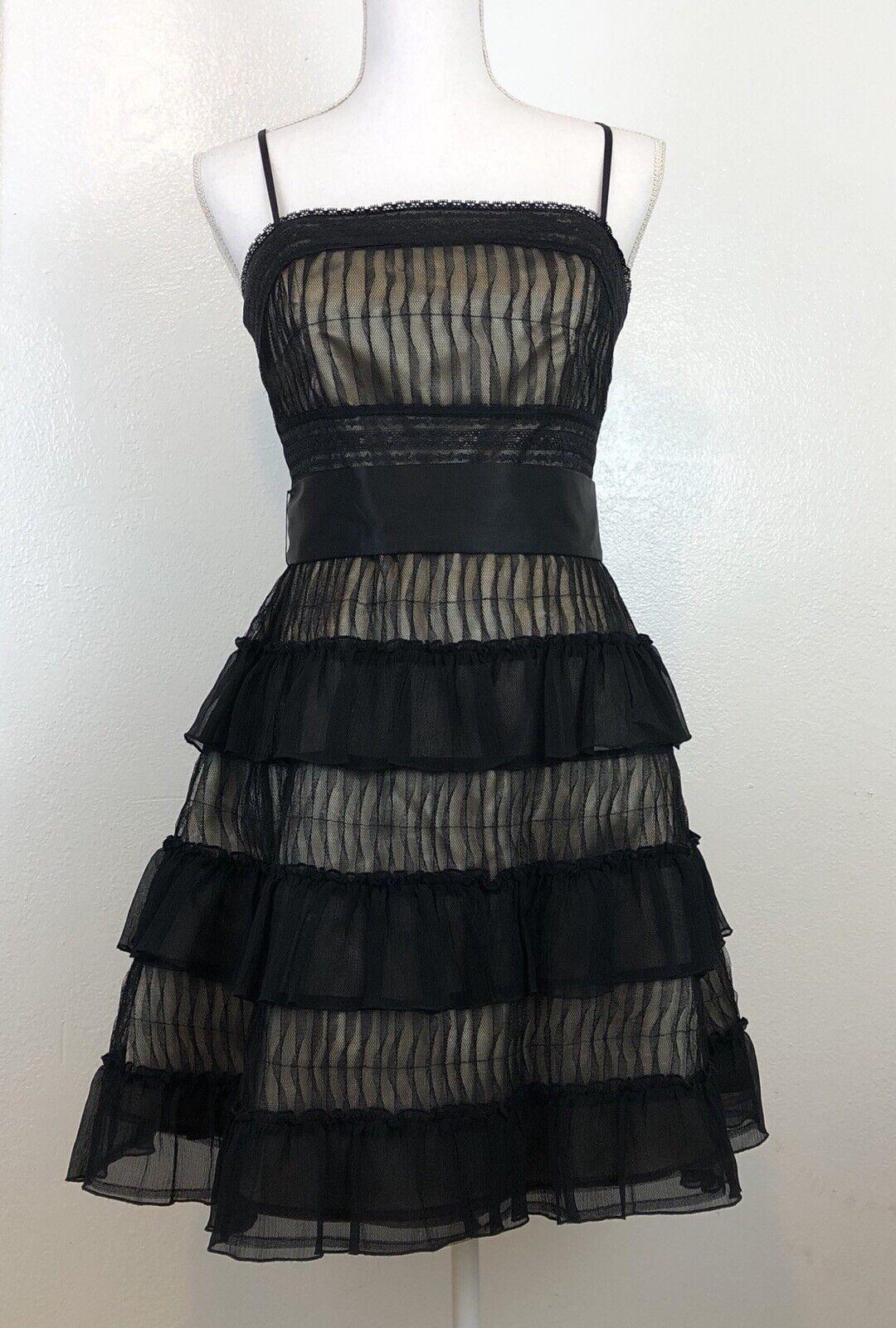Marciano damen schwarz Dress Medium Silk Lace Romantic Cocktail Statement