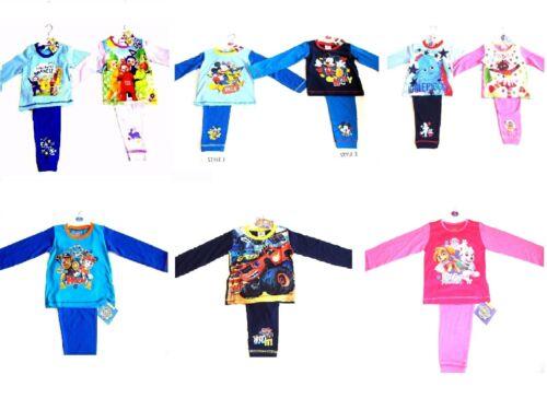 Boys Girls Kids Character Nightwear Childrens Pyjamas Pjs 12-18m 18-24m 2 3 4 5