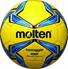 molten Beach Soccer Ball Yellow / Blue / Silver 5 F5V3550-Y