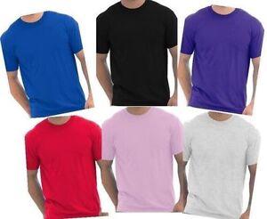 Gildan-Fruit-Of-Loom-Coton-Uni-Blanc-Bon-Marche-de-travail-homme-Plain-T-shirt-Taille-S-XXL