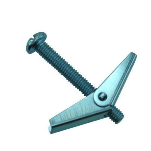 "X 4/"" Zinc Plated Round Head Combo Toggle Bolts Box of 100 6//32 1//8/"""