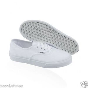 vans shoes for girls white. image is loading vans-authentic-classic-canvas-kids-boys-girls-skate- vans shoes for girls white ebay