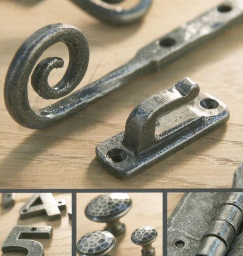 Large Centre Door Knob PEW6 Handle in Pewter Finish Rustic Cast Iron