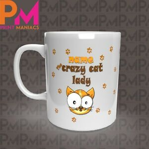 personalised-Crazy-Cat-Novelty-her-his-Mug-Cup-Gift-11oz-Animal-Cats-White-Mugs