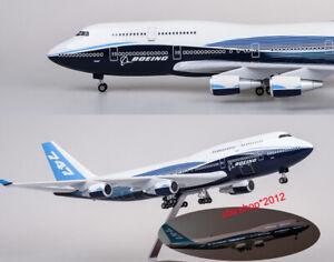 Airplane-Aircraft-1-150-B747-Boeing-747-400-Plane-Model-Replica-Resin-47cm-Long