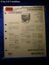Sony Service Manual HCD DR4 /DR5 /DR6 /DR440 /W300 /W5000 /XB500 (#4433)