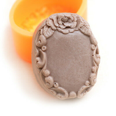 Antique flower DIY Silicone Soap candle Molds 3.3oz