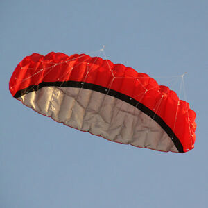 2-5M-Red-Dual-Line-Stunt-Parachute-Parafoil-Sport-Kite-LC627