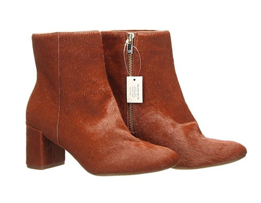 Taryn pink Cassidy Calf Hair Boot Ankle Bootie Terracotta  Size 6