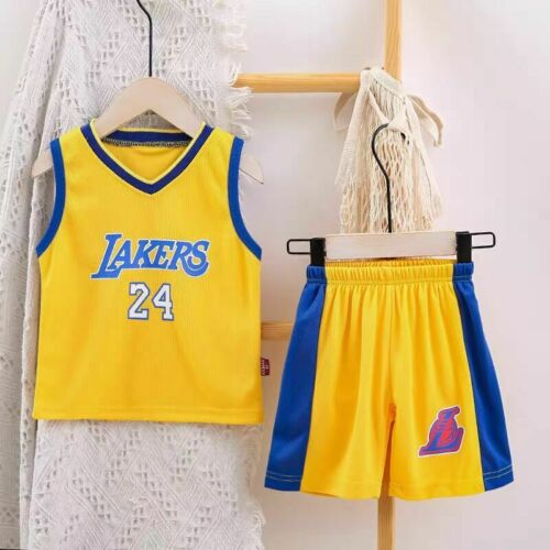 Kids Baby Boys Girls Basketball Jerseys Child Sports Outfits Clothes Sets Summer