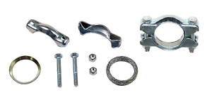 LEFT RIGHT 2 Exhaust Tail Pipe Clamp kit Set for VW Beetle Karmann Ghia Standard