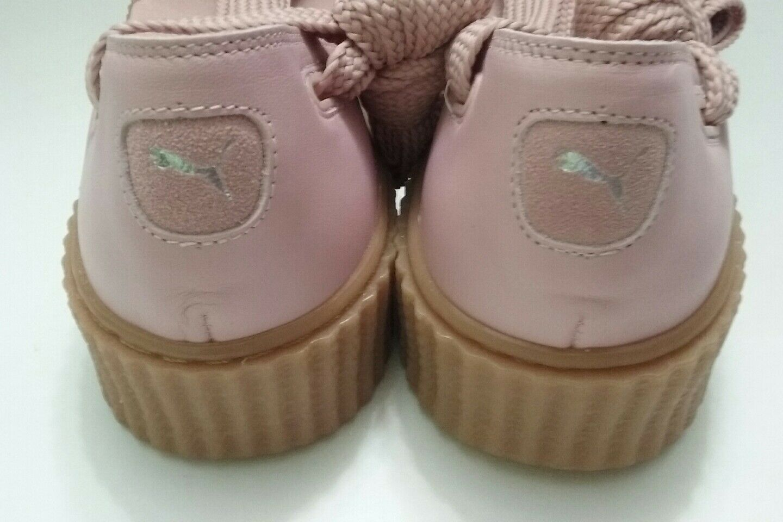 detailed look aca6b f24f6 ... PUMA Rihanna Sandals Women s 7.5Pink Leather Bow Creeper Creeper  Creeper Platform Shoes NEW  140 3b1ea1 ...