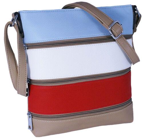 Tasche Damentasche Handtasche Schultertasche in Lederoptik Farbwahl NEU