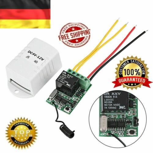4V 5V 6V 7,4V 9V 12V Funkrelais Fernbedienungsschalter Empfänger Sender B.