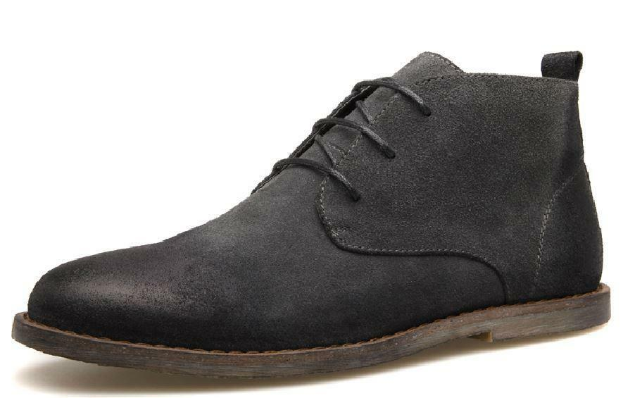 New Vintage Retro Mens Suede Leather Lace Up Desert Boot Chukka Boots shoes