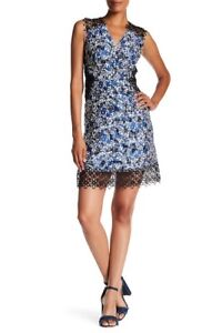 307029d058c9d NWT Elie Tahari Wren Floral Print Dress E40F9617 Multi-Color Size 6 ...