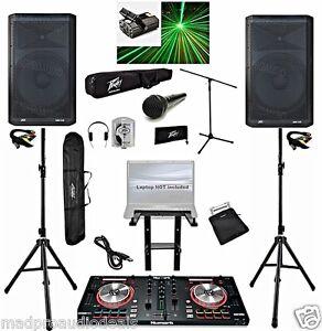 Professional-Dj-system-Numark-Mixtrack-pro-3-dj-controller-Peavey-DM115-pro-dj