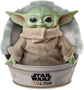 Star-Wars-Mandalorian-The-Child-11-034-Plush-Baby-Yoda-Doll-Mattel-GWD85-IN-STOCK
