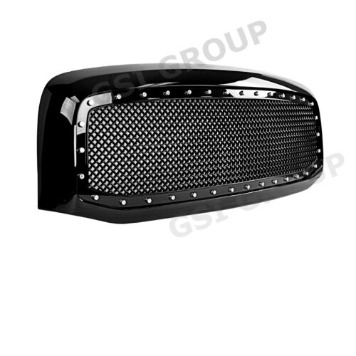 06-09 Dodge RAM Truck 2500+3500 Front Hood Gloss Black Replacement Mesh Grille