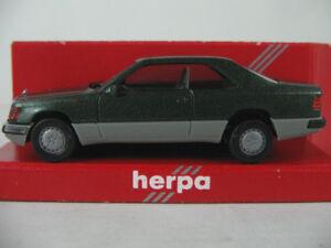 Herpa-3064-mercedes-benz-300-CE-Coupe-1987-en-grunmet-gris-1-87-h0-nuevo-en-el-embalaje-original