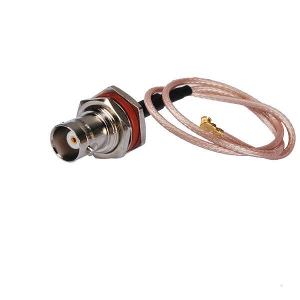"IPX/u.fl to BNC female bulkhead RF pigtail cable RG178 10cm 4"" for Wlan Mini-PCI"