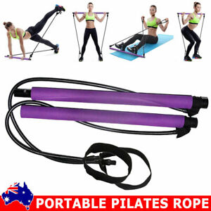 portable pilates bar yoga stick fitness exercise kit gym