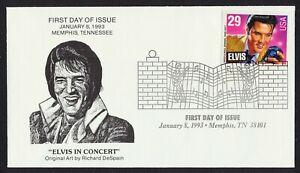 #2721 29c Elvis, Memphis Collectibles [11] FDC Cualquier 5=