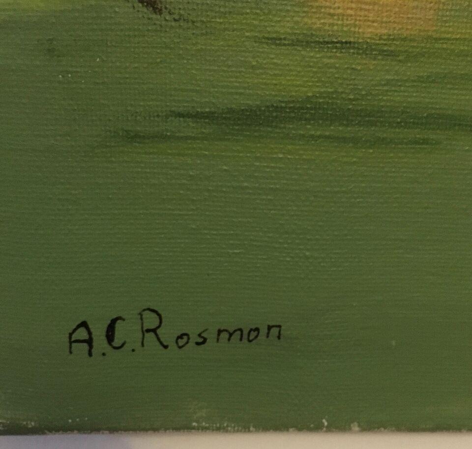 Oliemaleri, A.C. Rosmon, motiv: Fantasy