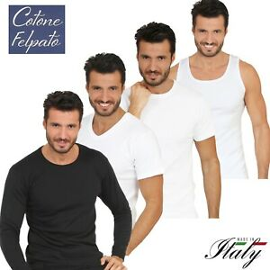 Maglia canotta intima uomo in caldo COTONE FELPATO maglietta termica invernale