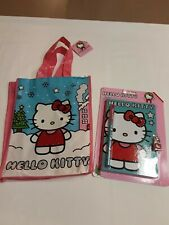 Hello Kitty Christmas Reusable Tote And Rhinestone Diary Withpen Amp Lock Bnwt