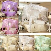 Princess Bed Canopy Mosquito Netting Or Bed Frame Post Twin Full Queen King