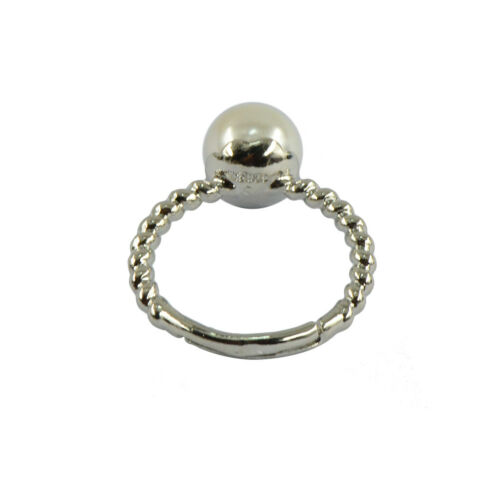 Fashion verstellbarer Ring mit bunten Runden Halb gebohrten Süßwasser