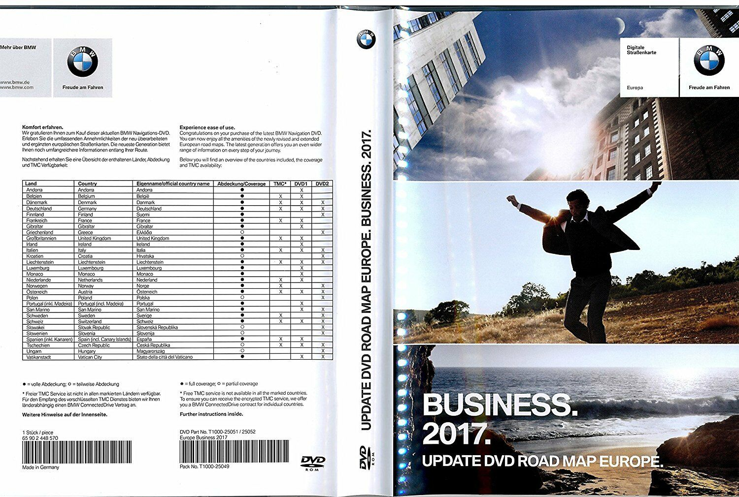 Road Map Of Germany 2017.Bmw Navigation Road Map Europe Business 2017 Update Dvd 65902448570 2448570