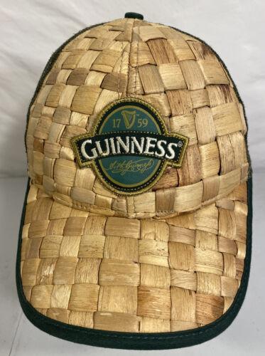 Guinness Beer Baseball Trucker Hat Cap Straw Woven