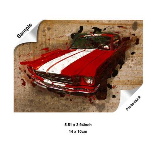 Image de Toile Canevas Murale Artistique Auto Voiture Ancienne Gué Mustang Sport
