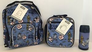 Pottery Barn Kids Star Wars Droids Small Backpack Lunch
