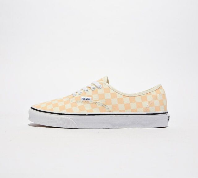 d5f7b0870f8d42 Vans Off the Wall Authentic Checkerboard Apricot White Shoes Mens 12 ...