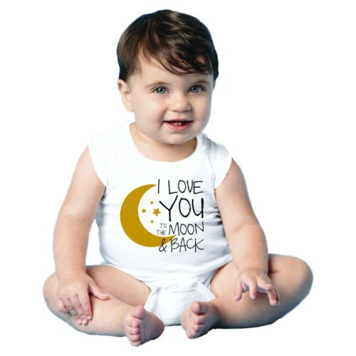 Newborn-24M Choose a Size I LOVE YOU TO THE MOON AND BACK Baby Jump Suit