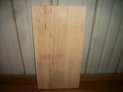 "1pc Hard Maple Lumber Wood Kiln Dried Board 20""x 10 7/16""x 7/8"" Lot 698z"